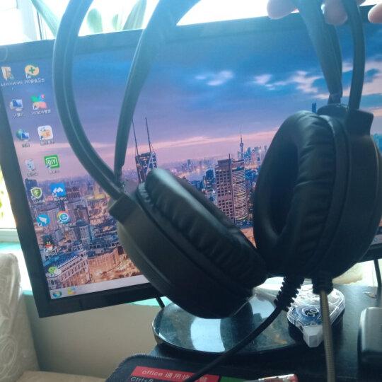 电脑耳机头戴式耳麦有线游戏耳机网吧笔记本台式吃鸡听声辩位电竞带麦克风话筒绝地求生7.1声道魔音LOL X9-科技黑【3.5mm双插头无光版】 晒单图