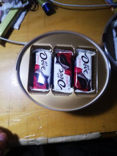 德芙Dove香浓黑巧克力办公室零食分享碗装员工休闲下午茶婚庆糖果礼品252g(新旧包装随机发放) 晒单图