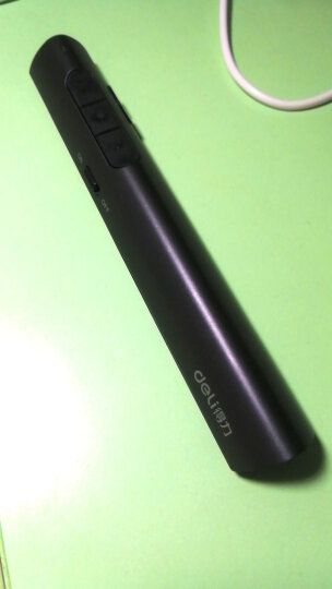 得力(deli)可充电超链切换教鞭 PPT幻灯片遥控翻页笔 电子笔演讲笔激光演示笔翻页器 无线演示器 红光 黑2801 晒单图