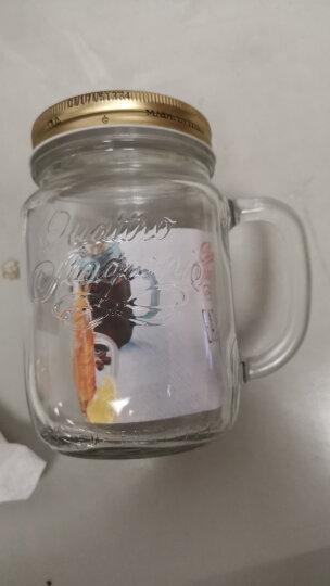 波米欧利bormioli意大利进口公鸡杯牛奶杯玻璃咖啡杯水杯奶茶杯把杯 415ml粉色 晒单图