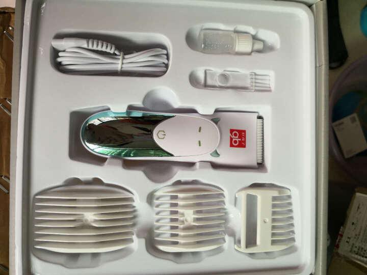 gb好孩子 婴儿理发器 低噪防水充电宝宝剃发器 新生儿 儿童理发器  成人可用电推剪发器 (小饿魔系列) 灰绿 晒单图