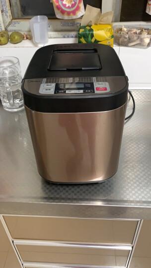 美的(Midea)面包机 早餐机 烤面包机 和面机 多功能 可预约全自动家用双撒料智能面包机 ESC1510 晒单图