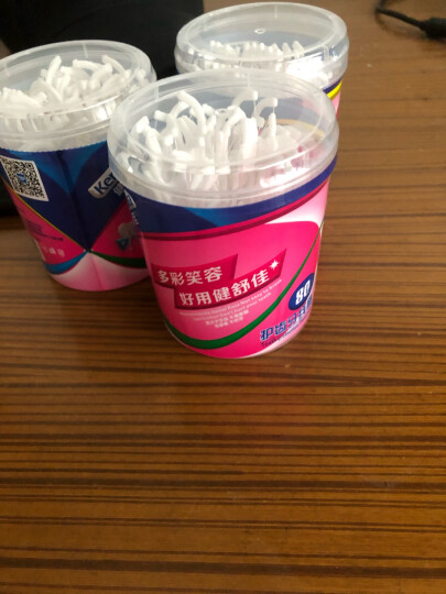 健舒佳(kensuka)双头棉签 母婴耳鼻清洁化妆棉签棒木棒袋装 200支/包 晒单图