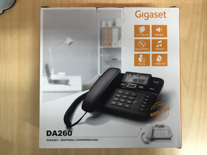 集怡嘉(Gigaset)原西门子品牌 电话机座机 固定电话 办公家用 双接口 免电池 DA260黑色 晒单图