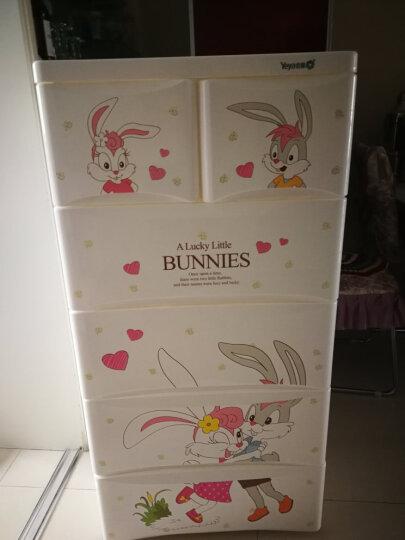 也雅抽屉式收纳柜整理箱盒储物柜简易衣柜宝宝儿童衣柜欧式加厚大容量五层 晒单图