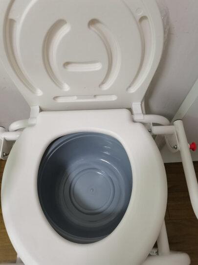 AUFU佛山东方坐便椅FS813 老人孕妇残疾人轻便座便器可调节坐厕椅洗澡椅医用移动马桶椅 晒单图