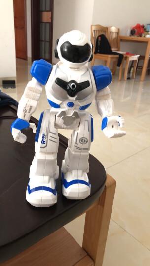 YIER 智能遥控机器人新年礼物儿童男孩女孩玩具充电机械战警可对战唱歌跳舞儿童电动智能 加大版机器人 混色 晒单图