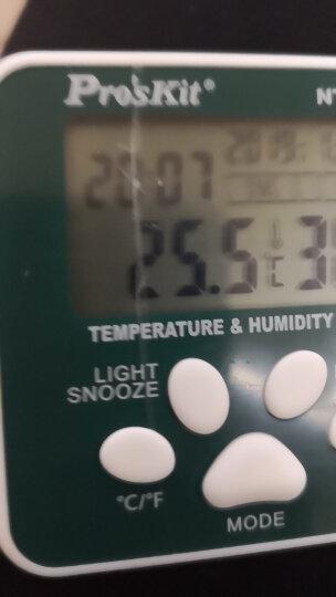 宝工(Pro'sKit)NT-316 数位温湿度计 数显温度计 测温仪 湿度仪 室内 电子温度计 晒单图