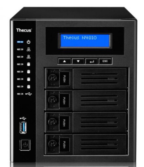 Thecus 色卡司 N4810 多媒体 NAS 网络存储 企业云存储服务器 16T 4x4TB服务器红盘 晒单图