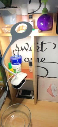 美的 (Midea)led台灯儿童学生学习阅读夹子灯宿舍寝室卧室床头书桌夹式小台灯可usb充电活力粉 晒单图