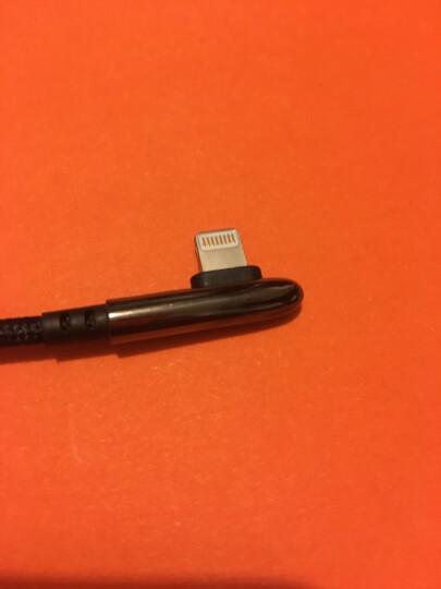 品胜(PISEN)弯头苹果数据线 1米 适用于苹果Xs Max/XR/X/6s/7/8plus充电线ipad air/pro手游弯头电源线 白 晒单图