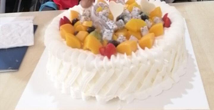 好利来生日蛋糕预订-花漾甜心-蛋糕预订酸奶提子限天津、成都订购同城配送 直径25cm 晒单图