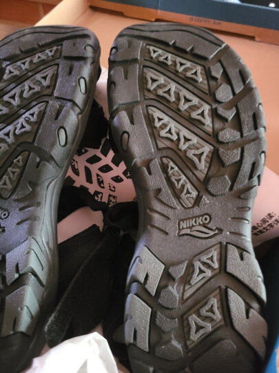 日高(NIKKO)户外包头沙滩鞋男 夏季运动凉鞋护趾软底溯溪鞋防滑耐磨休闲鞋子 001黑色 42 晒单图