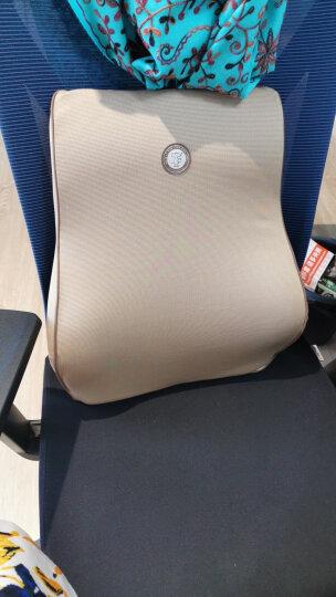 吉吉(GiGi)汽车腰靠 GT-1328竹炭记忆棉靠枕 背靠垫 车用办公用腰枕杏色 晒单图