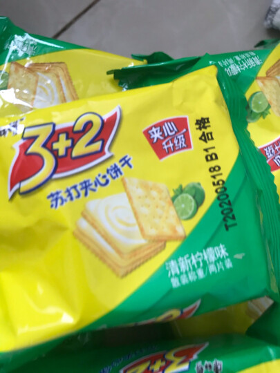 康师傅 3+2苏打夹心饼干蛋糕营养早餐办公室休闲零食小吃香浓奶油500g 晒单图