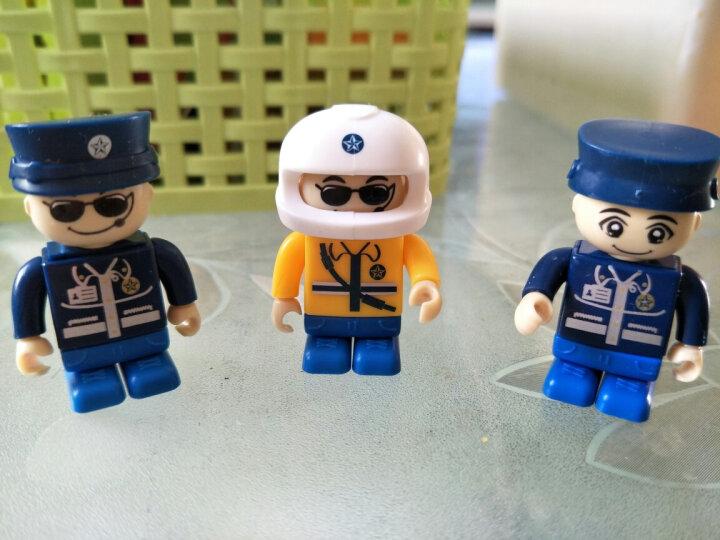 倍奇 积木城市警车儿童玩具男孩启蒙儿童礼物塑料拼插拼装警察积木玩具警车察总署 城市警车450片积木(单款可变形)礼盒装 晒单图