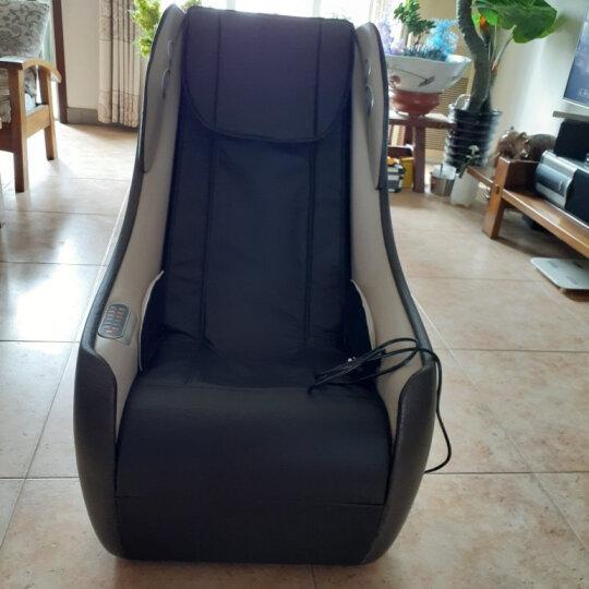 久工(LITEC)按摩椅家用小型 电动智能蓝牙音乐沙发日式全自动多功能SL导轨办公按摩椅 黑色 晒单图