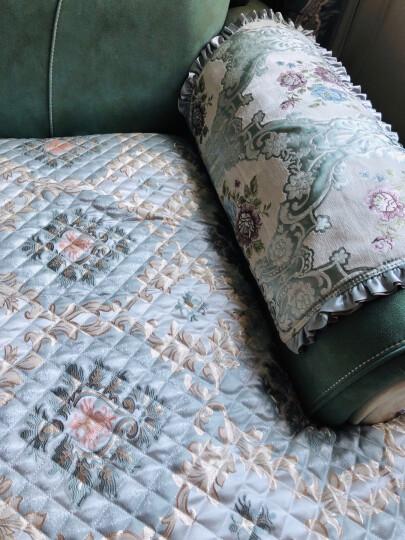 钟爱一生沙发垫套装四季沙发套罩全包坐垫子欧式布艺沙发巾防滑盖布加厚仿亚麻实木红木沙发组合通用 西雅图绿色 沙发垫定做定制联系客服 晒单图
