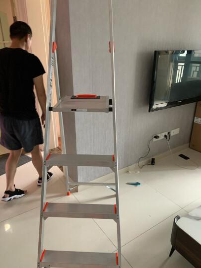 雷都捷特(LittleGiant)小巨人梯子家用人字梯加厚铝合金多功能折叠室内便携扶梯 三步15273(使用高度85cm) 晒单图