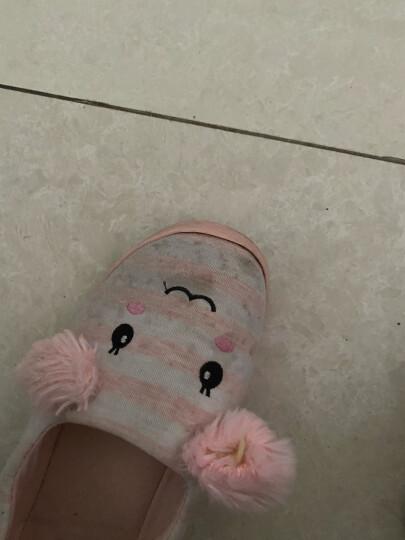 月子鞋 夏季薄款透气产妇产后室内女包跟防滑孕妇棉拖鞋 网眼款蓝色 L(40-41码) 晒单图