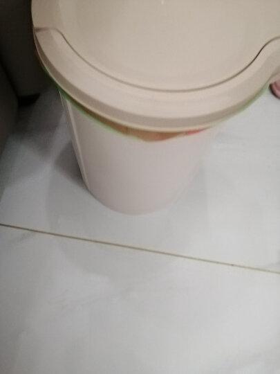 顺美 垃圾桶 大号12L圆形欧式卫生桶干湿分类纸篓桶SM-2851 晒单图