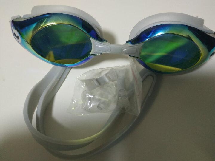 李宁LI NING 镀膜游泳镜 高清防水防雾游泳眼镜 男士女士泳镜 669电镀 灰 晒单图