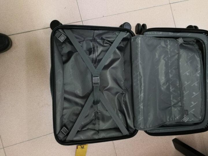 瑞动(SWISSMOBILITY)拉杆箱PC+ABS前开口登机箱行李箱20英寸万向轮 MT-5085-02T00黑色 晒单图