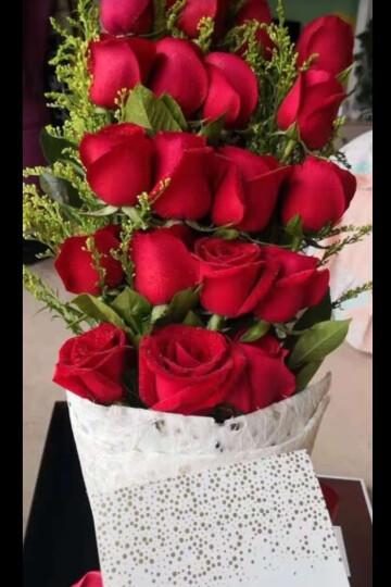 花美家 生日鲜花速递同城 玫瑰花 全国预定送花 19朵红玫瑰花束 满天星北京上海广州深圳花店 99朵粉玫瑰花束P款 平日价 晒单图