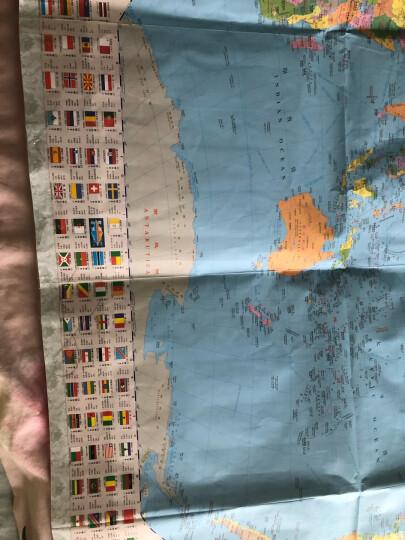 世界地图挂图(升级商务版 1.5米*1.1米 办公室书房专用挂图 无拼缝) 晒单图