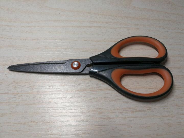 得力(deli)170mm特氟龙材质防粘不锈钢剪刀 办公用品 白色6055 晒单图