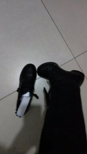 卡路奇真皮舞蹈鞋女式镂空透气网面软底增高跳舞鞋现代成人春夏水兵广场舞鞋子 黑色全皮 39 晒单图