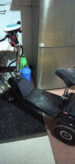 骏杰动感 亲子老人女士成人男士迷你折叠小型电动车双人小型三轮电动车电动滑板车电动三轮车接送小孩 蓝色双人座 36V蓄电池-液压减震-带倒挡30-35公里 晒单图