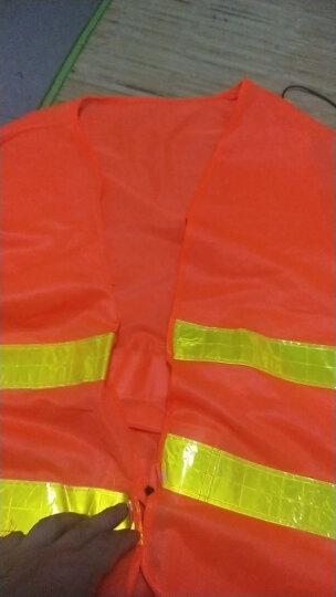 趣行 反光衣 反光背心 荧光黄网银条高亮汽车交通安全警示马甲 环卫施工执勤骑行安全服 晒单图