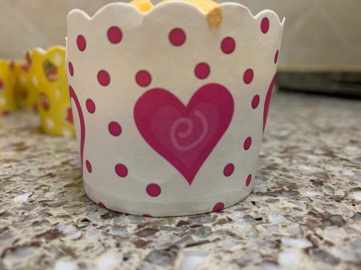 焙芝友 蛋糕纸杯 玛芬杯 泡芙面包烘焙纸托玛芬蛋糕模具套餐 家用烤箱可用 20个纸杯(花瓣图案) 晒单图