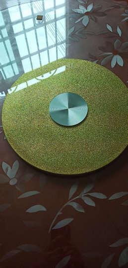 雕图腾 酒店餐桌转盘钢化玻璃圆桌转盘连体圆形转盘底座大桌面旋转盘 餐桌转盘 金沙 90cm/厚10mm 晒单图