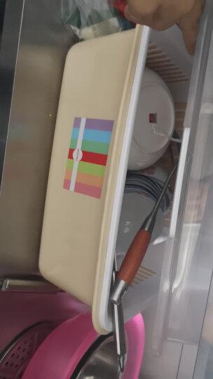沃德百惠(WORTHBUY)碗架沥水架厨房置物架碗筷收纳盒碗碟架收纳柜碗架 翻盖蓝色大号 晒单图