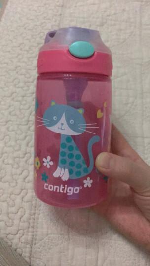 美国contigo康迪克塑料杯儿童吸管塑料水杯夏季运动便携水杯儿童杯 400ML战机HBC-GIZ039【精品版】 晒单图