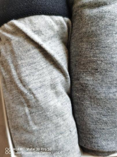 南极人(Nanjiren)抑菌男士内裤男平角裤精梳棉4条装中腰u凸男式短裤头四角男内裤 纯色款 XXXL 晒单图