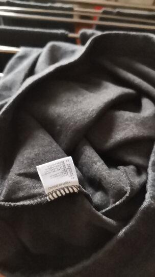 【包邮赠运费险】帕兰朵纯色精梳棉男士加厚磨绒棉裤保暖裤护膝贴片秋裤 藏青-男 XL 晒单图