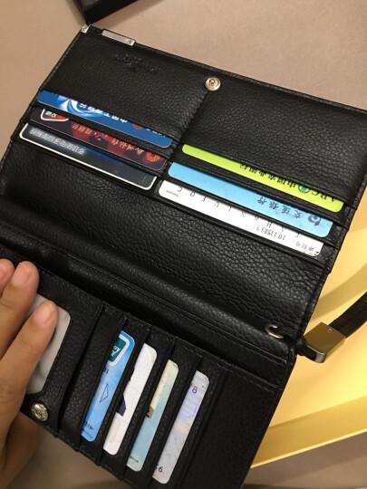 英皇保罗钱包男长款头层牛皮男士钱包拉链卡包钱夹 商务手拿包POLO129 黑色 晒单图