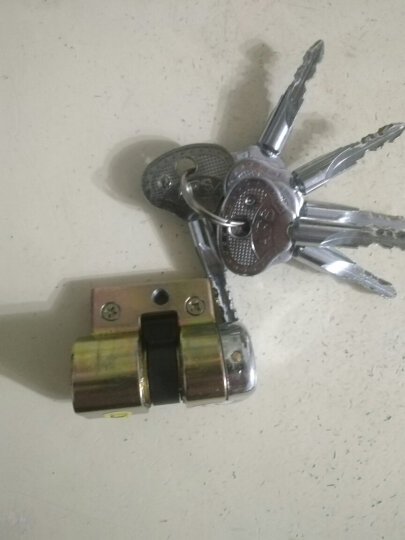 尚尚居(SSJ)  老式盼盼美心防盗门锁芯 AFS安防锁芯 老款入户外装大门月牙钥匙 34+41=75 晒单图