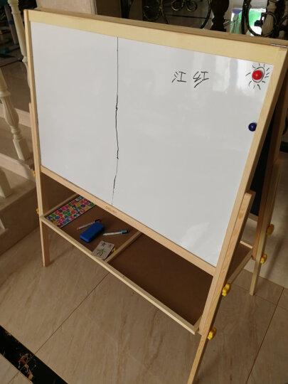 得力(deli)7894 实木A型架1080*528mm双面磁性学生白板 儿童画板画架 粉笔绿板 晒单图