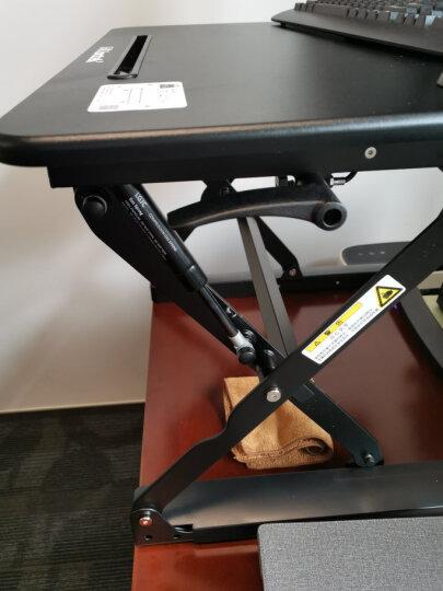 乐歌(Loctek)站立办公升降台 笔记本显示器支架可折叠升降电脑桌 家用工作台书桌 M1S黑 晒单图