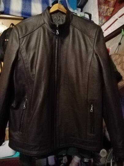 比菲力头层真皮皮衣男海宁绵羊皮2020春夏款外套修身韩版男士机车皮夹克 008香槟色 165(M) 晒单图