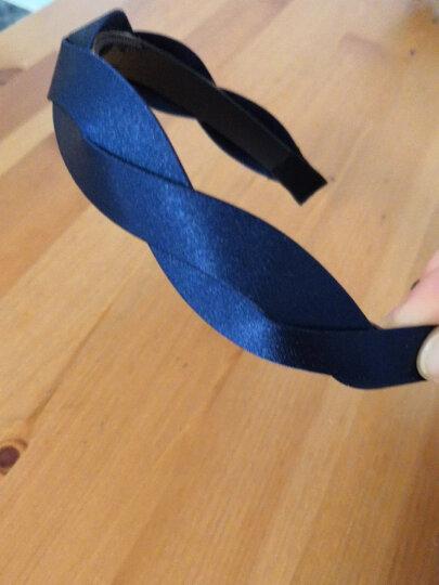 AiChoice发箍韩版头箍雪纺布艺头饰麻花发饰品女带齿发卡宽边压发夹 藏蓝色 晒单图