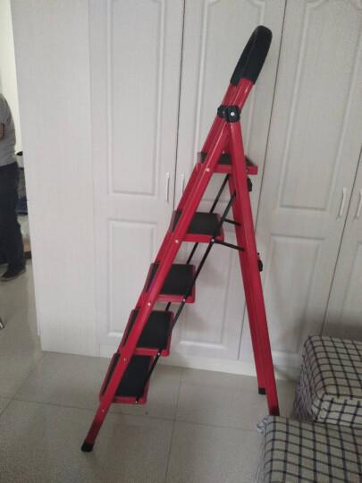 奇晟铭源 梯子 家用梯子防滑人字梯加宽踏板五步梯金属折叠梯 LC-117 晒单图