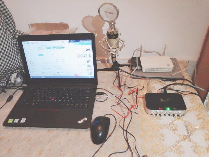 T6-2 外置声卡电容麦克风套装 快手抖音专用K歌主播麦克风话筒 手机电脑直播录音唱歌设备全套 黑色(赠送铝箱) 晒单图
