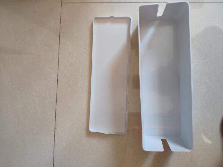奥睿科(ORICO) 插座理线盒电源线收纳盒插排收纳盒充电器数据线桌面防水防尘整理电源盒 粉红色 晒单图