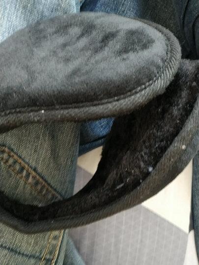 博沃尼克 加绒加厚滑雪手套男冬季保暖防风手套 摩托车防风骑车骑行手套 蓝色 晒单图