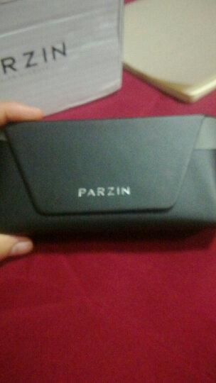 帕森(PARZIN)太阳镜男款偏光驾驶墨镜男士偏光眼镜8009 黑框黑灰片 晒单图